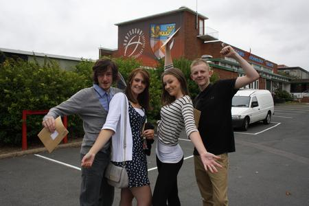 A Level results celebrations at Hartsdown College