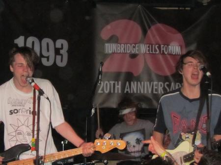Palma Violets' Chilli Jesson and Sam Fryer at Tunbridge Wells' Forum