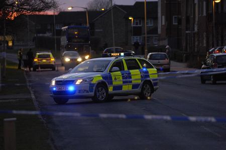 Scene of the accident on the ring road on Stanhope estate in Ashford