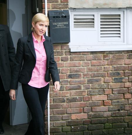 Heather Mills leaves tribunal office at Ashford