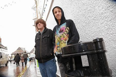 Michael Cottrell and his friend Joseph Kilsby objecting to smoking outseide shop doors.