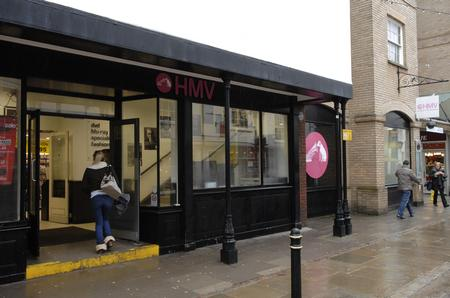 The HMV store in St Margarets Street, Canterbury.