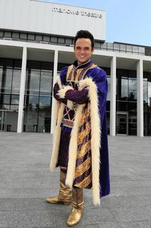 Gareth Gates as the Prince at the Marlowe Theatre, Canterbury