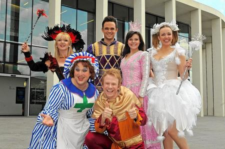 The cast of Sleeping Beauty at the Marlowe Theatre