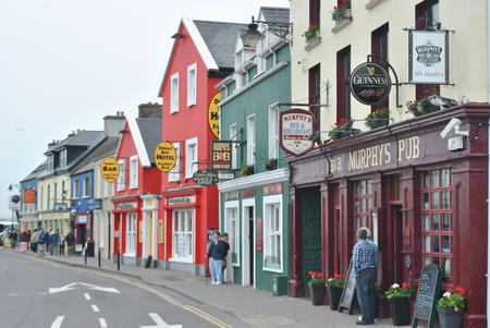 Colourful buildings in Dingle in County Kerry
