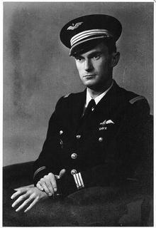 RAF squadron leader René Mouchotte in uniform, who was based at Biggin Hill
