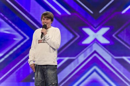 Luke Lucas, 16, from Margate, performs on the X Factor