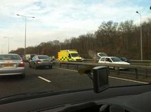 The scene of the accident on the M20 on Saturday