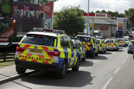 Police at the scene of a robbery at Esso in Strood