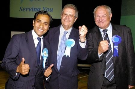 Medway Conservative candidate Reyman Chishti gives the thumbs up
