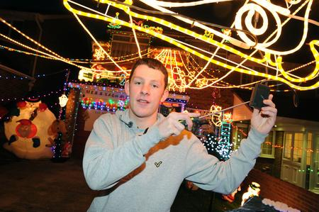 Andy Broad's son Aaron is responsible for putting up the decorations at their Cliffe Woods home