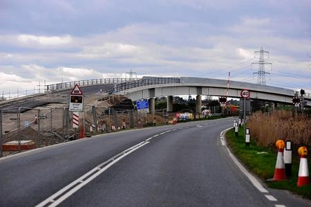 The Stoke Crossing nearing completion.