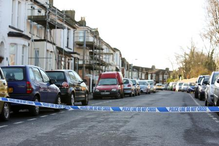 Police cordon off Windmill Street in Gillingham after a man was stabbed.