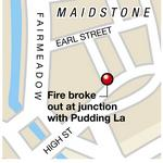 Lorry fire in Maidstone.