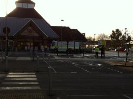 Morrisons supermarket evacuated after suspicious package reported.