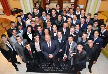 Mr World contestants at Tudor Park hotel, Maidstone.