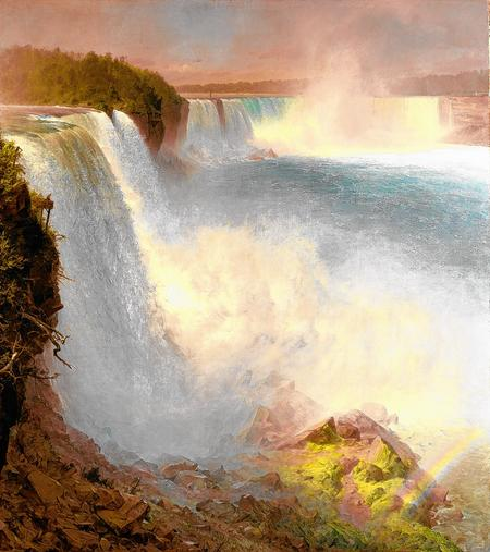 Niagara Falls, from the American Side. Frederic Edwin Church 1867