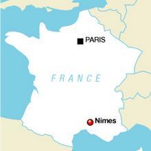 Nimes murder locator map