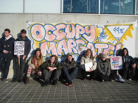 Occupy Thanet movement outside the Turner Contemporary gallery in Margate.
