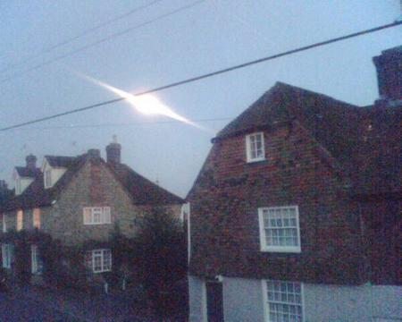 Strange light hovers over Lenham