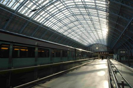 St Pancras International station, complete with Eurostar class 373 sets
