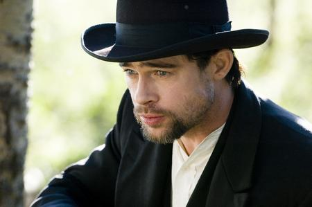 Actor Brad Pitt as Jesse James