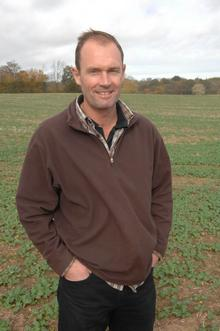 Farmer Andy Barr of A&A Barr Farm by the piece of land which may become a solar energy park.