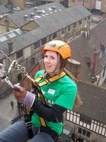 Jenni Horn at the KM Charity Challenge abseil in 2011