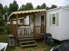 A Siblu mobile home in the Loire valley.