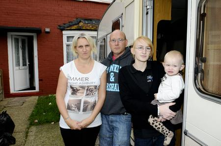 The Hayward family are living in a caravan because of rats in their home in Quarry Road, Maidstone