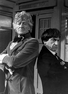 Jon Pertwee and Patrick Troughton
