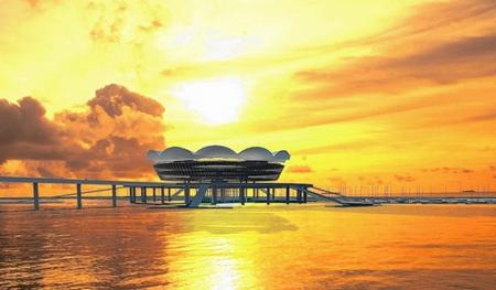 An artist's impression from Aedas of how the pier could look.
