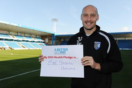 Gills captain Adam Barrett takes his A Better Medway 2013 pledge