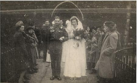 Jack and Phyllis Potter on their wedding day - February 20th 1943. The couple have recently celebrated their 70th wedding anniversary.