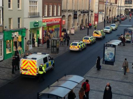 Police spotted in Maidstone High Street