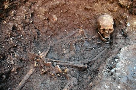 The remains of Richard III were discovered underneath a car park by archaeologists from the University of Leicester. Picture: University of Leicester