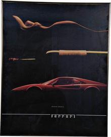 Legendary Ferrari poster