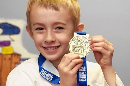 South Avenue juniors. Pupil Charlie Wetherill (8) has won a karate gold medal and might be off to the world champs.