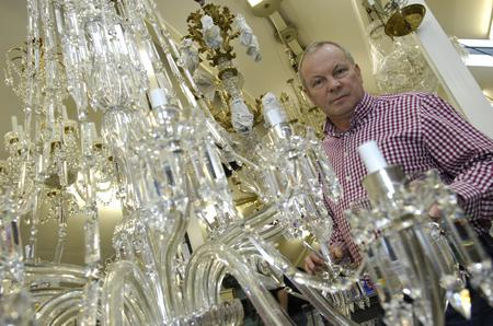 David Wilkinson, of Wilkinson, who make chandeliers for palaces and celebrities.