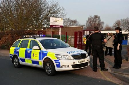 Police on the scene at a suspected stabbing incident at Sittingbourne Community College, Sittingbourne