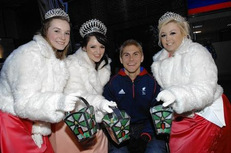Paralympian Steve Brown and the Sittingbourne Carnival Court at the switch on of Sittingbourne's Christmas Lights on Saturday.