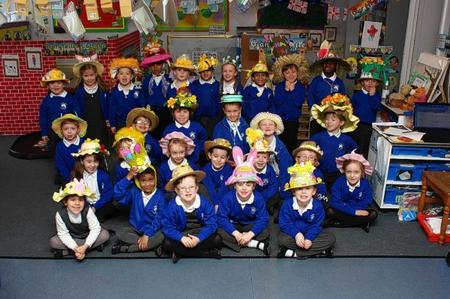Annual Easter bonnet parade at Bobbing Primary School