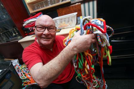 Ted Hannaford is the world record holder for French knitting