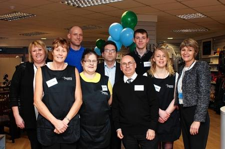 National charity Tomorrow's People opens its flagship store in Sittingbourne. Pictured are staff and volunteers.