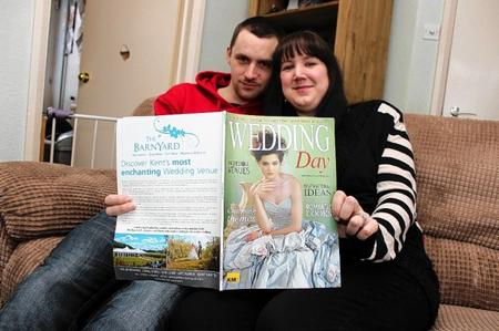 Stacy Burnett and her partner Daniel Webb are looking for people to sponsor their wedding.