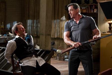 Christian Slater and Sylvester Stallone