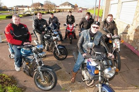 Tone Isitt, front, is setting up a bikers' group to fight the council over the state of the borough's roads