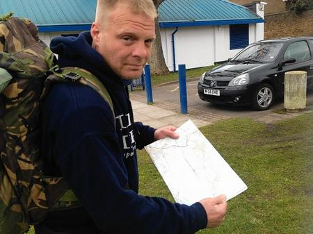 Christian Nock plans his trip around Sheppey.