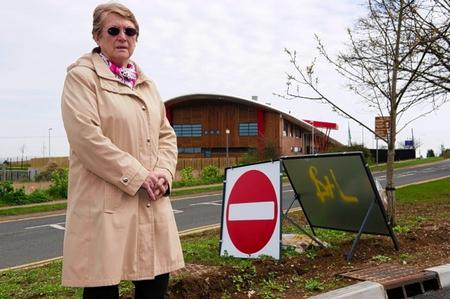 Pat Sandle outside Eastchurch school's St Clements site