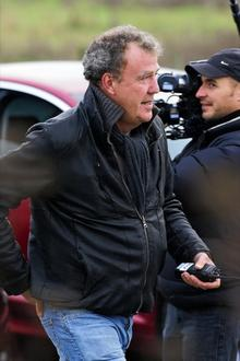 Jeremy Clarkson filming Top Gear in Queenborough, Isle of Sheppey, in November